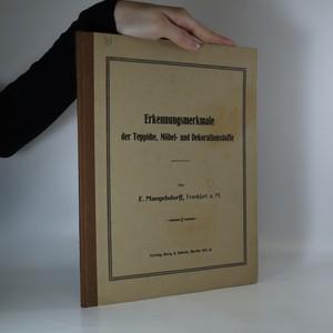 náhled knihy - Erkennungsmerkmale der Teppiche, Möbel- und Dekorationsstoffe