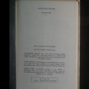 antikvární kniha Když jsem umírala, 1967
