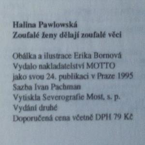 antikvární kniha Zoufalé ženy dělají zoufalé věci, 1995