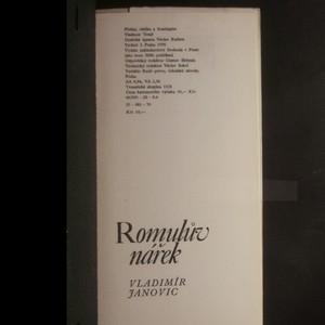 antikvární kniha Romulův nářek, 1970