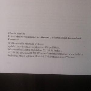 antikvární kniha Právní předpisy související se zákonem o elektronických komunikacích. Komentář, 2009