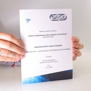 náhled knihy - Výzkum implementace tržní orientace u hi-tech firem