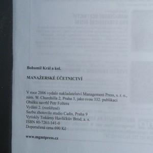 antikvární kniha Manažerské účetnictví, 2008