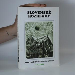 náhled knihy - Slovenské rozhľady. Číslo 1-2