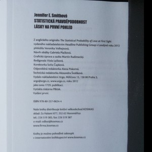 antikvární kniha Statistická pravděpodobnost lásky na první pohled, 2012