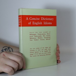 náhled knihy - A Concise Dictionary of English Idioms
