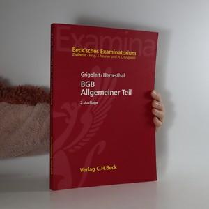 náhled knihy - BGB Allgemeiner Teil