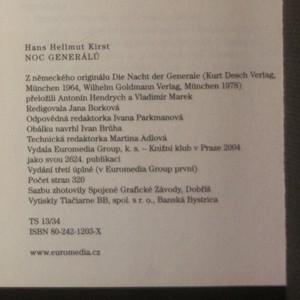 antikvární kniha Noc generálů, 2004