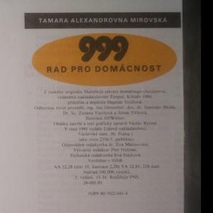 antikvární kniha 999 rad pro domácnost, 1991