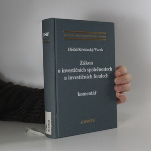 náhled knihy - Zákon o investičních společnostech a investičních fondech : komentář
