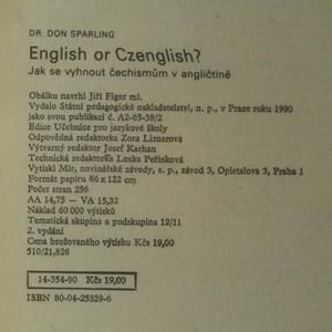antikvární kniha English or Czenglish? Jak se vyhnout čechismům v angličtině, 1990