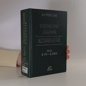 náhled knihy - Obchodní zákoník : § 176 - § 220zb. Díl III.