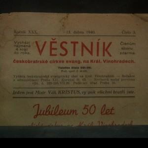 antikvární kniha Věstník českobratrské církve evangelické na Královských Vinohradech, 1940
