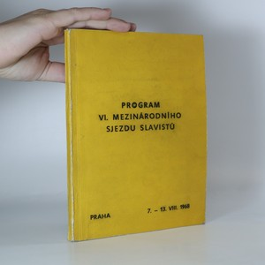 náhled knihy - Program VI. mezinárodního sjezdu slavistů