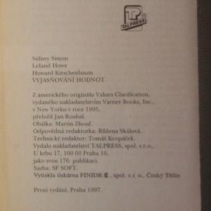 antikvární kniha Vyjasňování hodnot, 1997