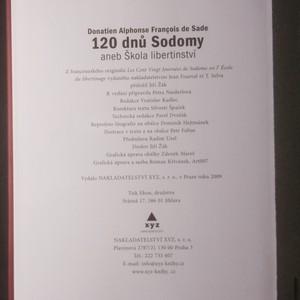 antikvární kniha 120 dnů Sodomy aneb Škola libertinství, 2009
