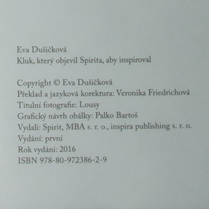 antikvární kniha Kluk, který objevil Spirita, aby inspiroval (na čárovém kódu špatné ISBN), 2016