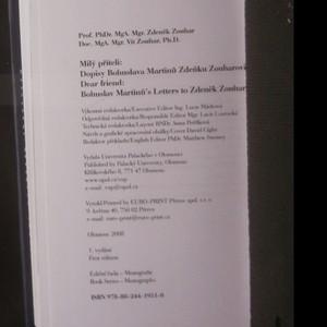 antikvární kniha Milý příteli. Dopisy Bohuslava Martinů Zdeňku Zouharovi. Dear friend. Bohuslav Martinů's letters to Zdeněk Zouhar, 2008