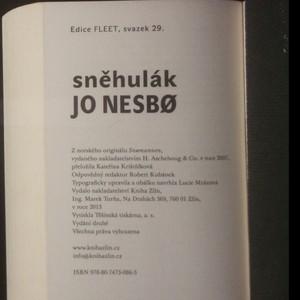 antikvární kniha Sněhulák, 2013
