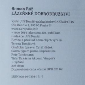 antikvární kniha Lázeňské dobrodružství /1900-1921/, 2014