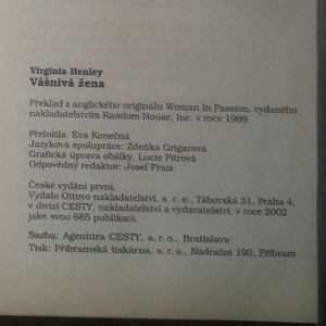 antikvární kniha Vášnivá žena, 2002