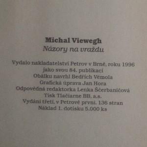 antikvární kniha Názory na vraždu, 1996