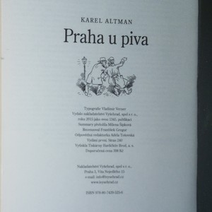 antikvární kniha Praha u piva, 2015