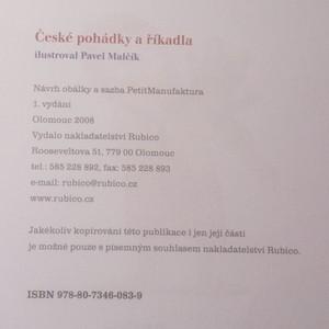 antikvární kniha České pohádky a říkadla, 2008