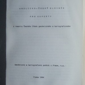 antikvární kniha Anglicko-český slovník pro experty , 1984