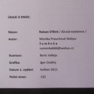 antikvární kniha Raison D'êtré. Důvod existence (věnování autorky), 2011