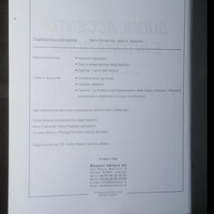 antikvární kniha Suoni, accento e intonazione , 2005