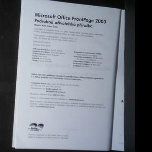 antikvární kniha Microsoft Office FrontPage 2003 : podrobná uživatelská příručka, neuveden