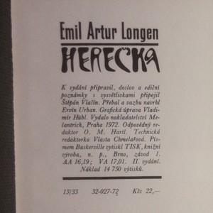 antikvární kniha Herečka, 1972