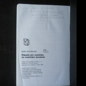 antikvární kniha Nápady pro maminky na mateřské dovolené (politá, popsaná), 1998