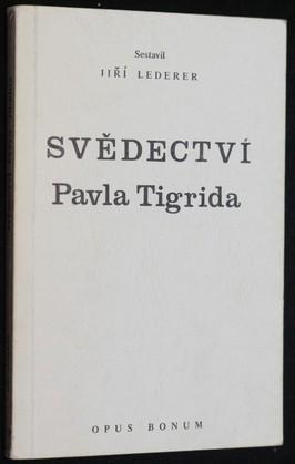náhled knihy - Svědectví Pavla Tigrida
