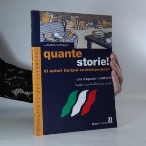 náhled knihy - Quante storie! Di autori italiani contemporanei