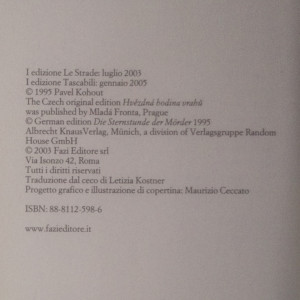 antikvární kniha L'assassino delle vedove, 2005