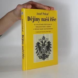 náhled knihy - Dějiny naší říše