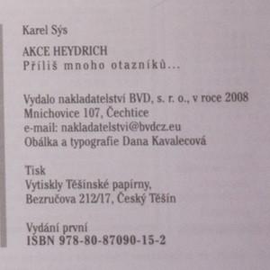 antikvární kniha Akce Heydrich : příliš mnoho otazníků..., 2008