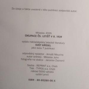 antikvární kniha Okupace čs. letišť v r. 1939, 1939