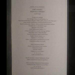 antikvární kniha Občanská neposlušnost a jiné eseje, 2014