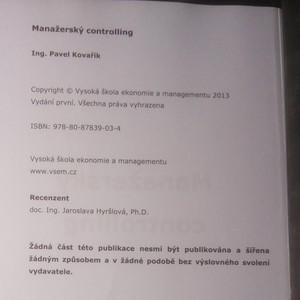 antikvární kniha Manažerský controlling, 2013