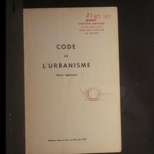 antikvární kniha Code de l'urbanisme, 1977
