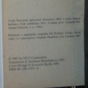 antikvární kniha Triky, 1992