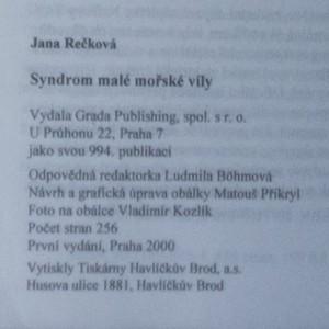 antikvární kniha Syndrom malé mořské víly, 2000