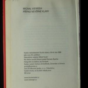 antikvární kniha Případ nevěrné Kláry, 2009