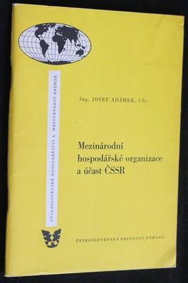 náhled knihy - Mezinárodní hospodářské organizace a účast ČSSR