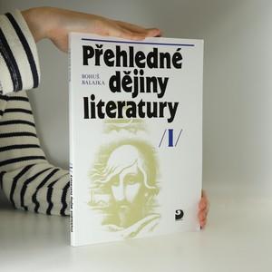 náhled knihy - Přehledné dějiny literatury I