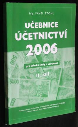 náhled knihy - Učebnice účetnictví 2006, pro střední školy a veřejnost II. díl