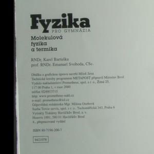 antikvární kniha Fyzika pro gymnázia. Molekulová fyzika a termika, 2000